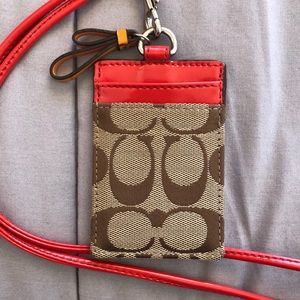 Coach Lanyard with ID Holder